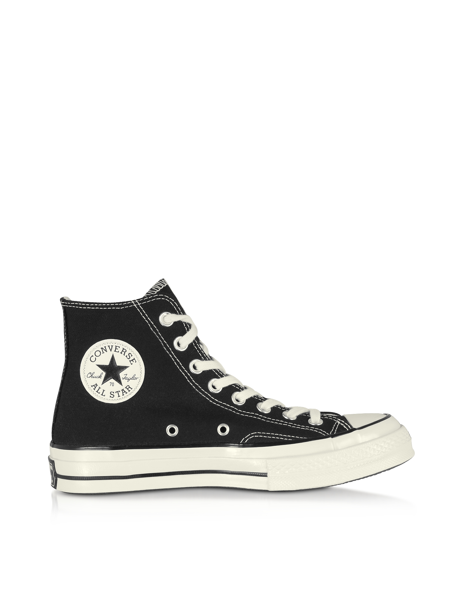 Converse Limited Edition Designer Shoes, Chuck 70 High Top Black Canvas Sneakers