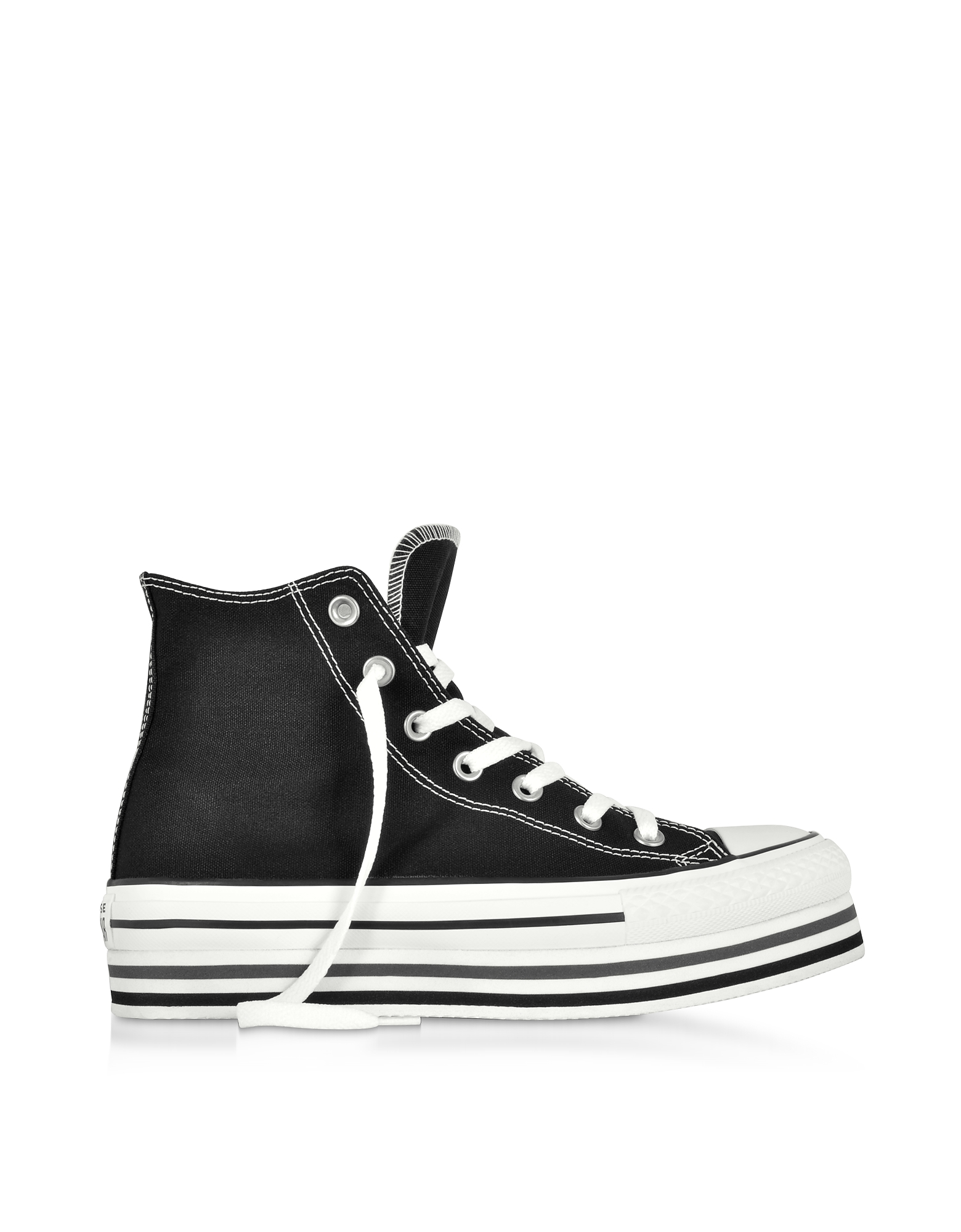 Converse Limited Edition Designer Shoes, Chuck Taylor All Star Platform Layer Black Sneakers