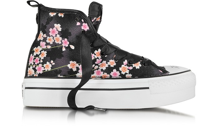 CT AS HI Platform Canvas Full Black/Hanami Sneaker - Converse Limited Edition