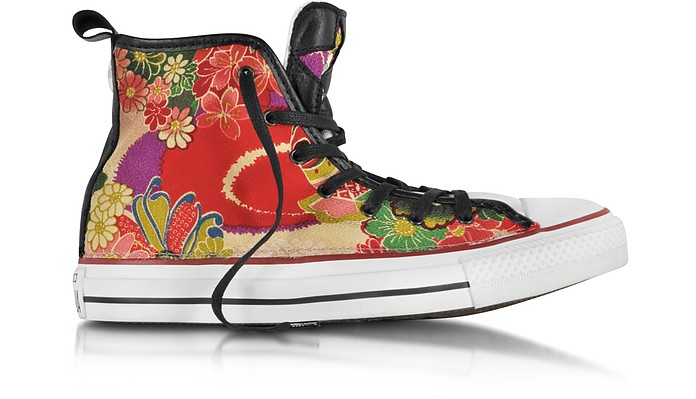 CT All Star Hi Red Hanami Canvas Sneaker - Converse Limited Edition