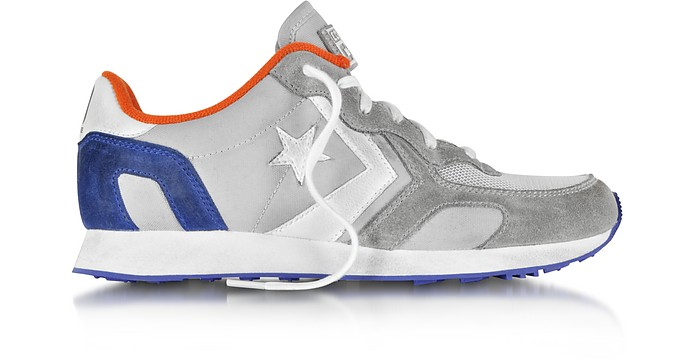 Auckland Racer Ox Gray, Orange, Blue Nylon and Suede Sneaker - Converse Limited Edition