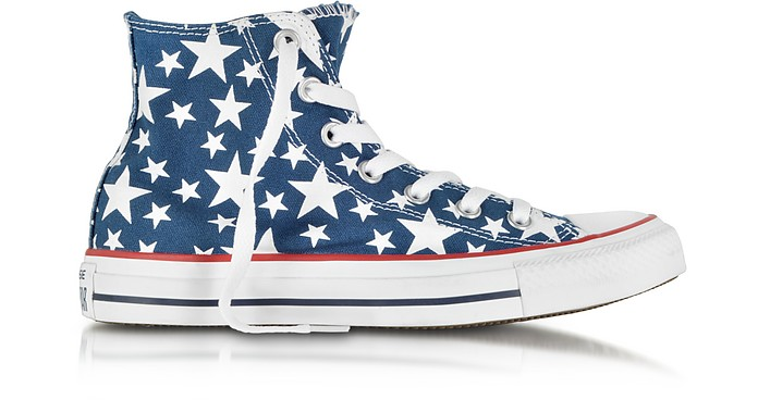 Chuck Taylor All Star Hi-Ox Midnight Hour/White Stars Canvas Sneaker - Converse Limited Edition