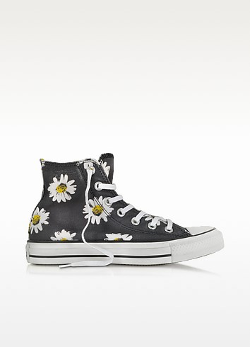 Chuck Taylor All Star Sneaker aus Canvas in schwarz mit Margeriten - Converse Limited Edition