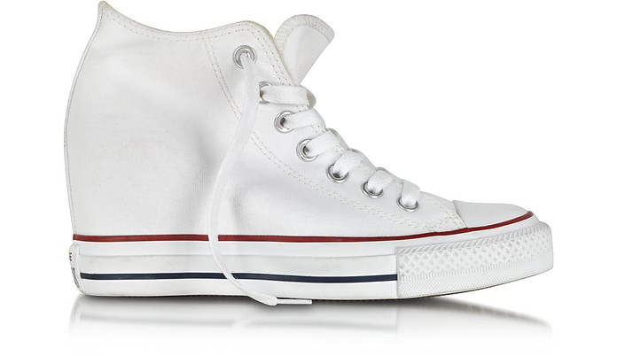 All Star Mid Lux White Canvas Wedge Sneaker - Converse Limited Edition