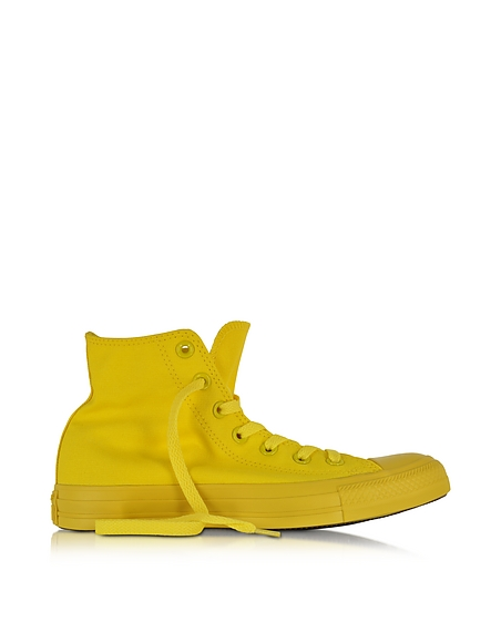 Converse Limited Edition All Star Hi - Sneakers Montantes Unisexe en Toile Jaune Fluo