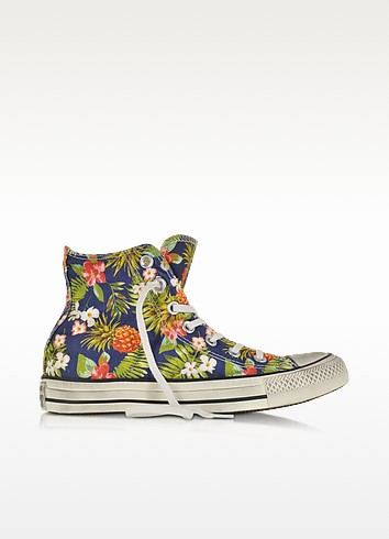 All Star Hi Canvas Graphics Inked Pineapple Print Sneaker - Converse Limited Edition