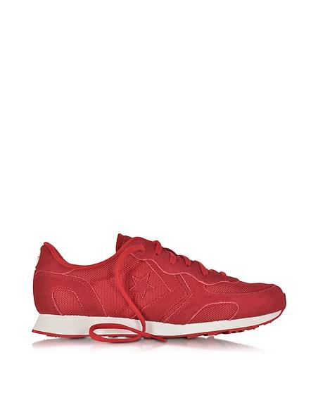 Foto Converse Limited Edition Auckland Racer Ox Sneaker Unisex in Canvas e Nylon Rosso Tango Scarpe
