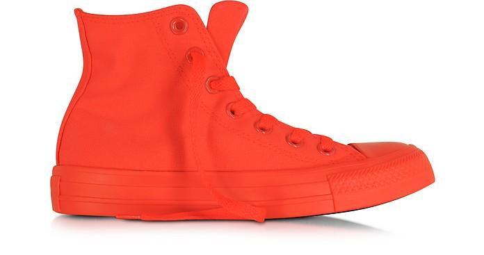 All Star Hi Neon Crimson Canvas Sneaker - Converse Limited Edition