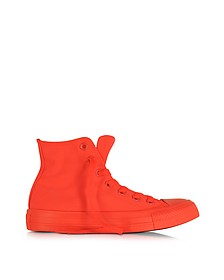 All Star Hi - Sneakers Montantes Femme en Toile Orange/Rouge Fluo - Converse Limited Edition