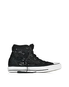 All Star Hi Black Crochet Canvas Sneaker - Converse Limited Edition