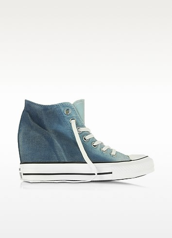 Ctas Lux Mid Ambient Blue Wedge Sneaker - Converse Limited Edition