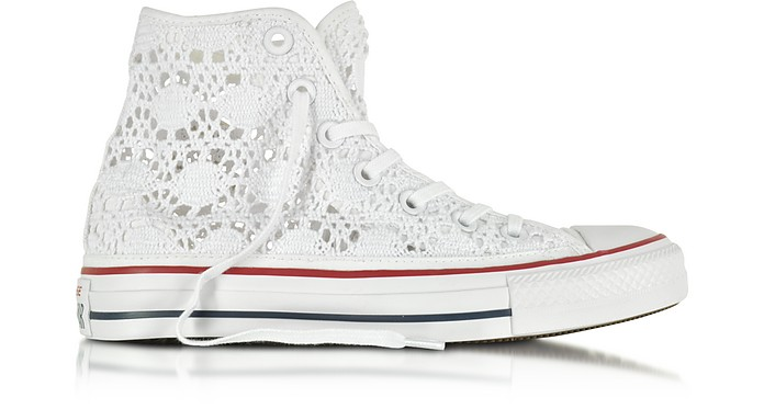 All Star Hi Optic White Crochet Canvas Sneaker - Converse Limited Edition
