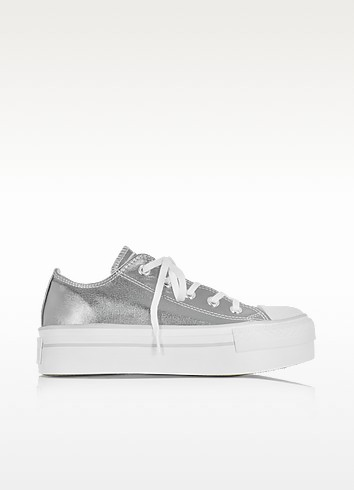 Chuck Taylor Ox Platform Metallic Canvas Sneakers - Converse Limited Edition