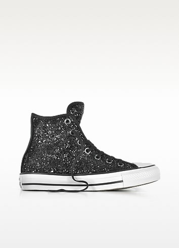 Chuck Taylor All Star Hi Black Glitter Sneakers - Converse Limited Edition