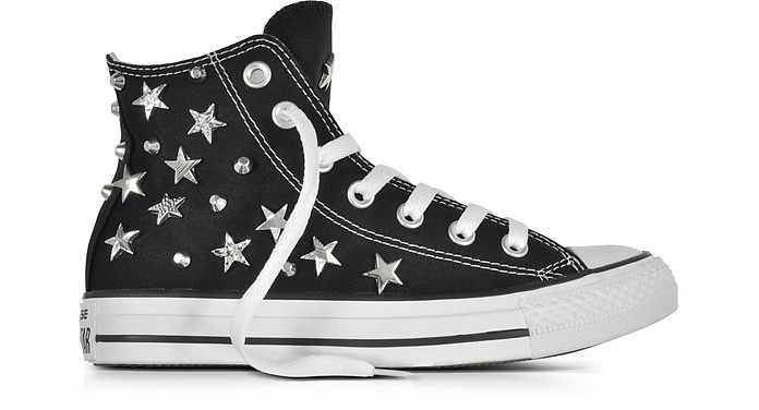 Chuck Taylor All Star Hi Black Sneakersw/Stars and Studs - Converse Limited Edition