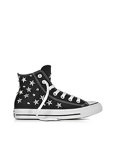 Chuck Taylor All Star Hi 黑色运动鞋配星星和铆钉 - Converse Limited Edition  匡威