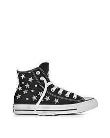 Chuck Taylor All Star - Sneakers Montantes en Toile Noire avec Étoiles et Clous - Converse Limited Edition