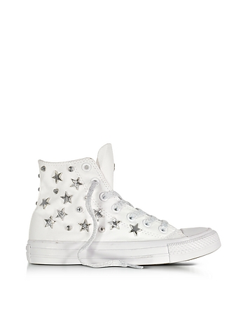231bc2edc060 Chuck Taylor All Star Hi White Sneakers w Stars and Studs from ...