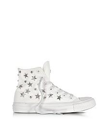 Chuck Taylor All Star Hi Sneaker mit Stern und Nieten in weiß - Converse Limited Edition
