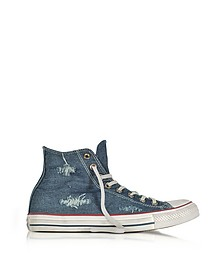 Chuck Taylor All Star Hi Denim Destroyed Sneakers Unisex - Converse Limited Edition
