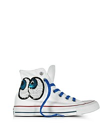 Chuck Taylor All Star Hi White Tropical Sneaker LTD con Paillettes - Converse Limited Edition