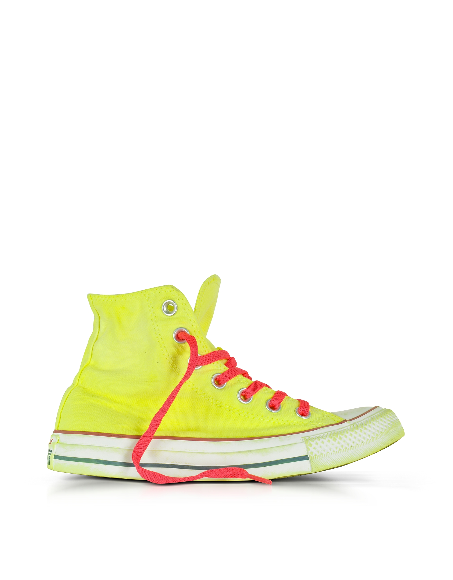 Converse Limited Edition Shoes, Chuck Taylor All Star Hi Neon Yellow Canvas LTD Sneakers
