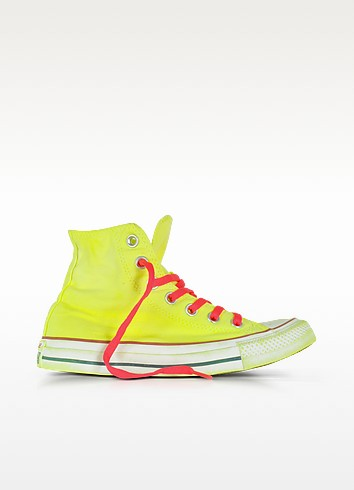 Chuck Taylor All Star Hi Neon Yellow Canvas LTD Sneakers - Converse Limited Edition