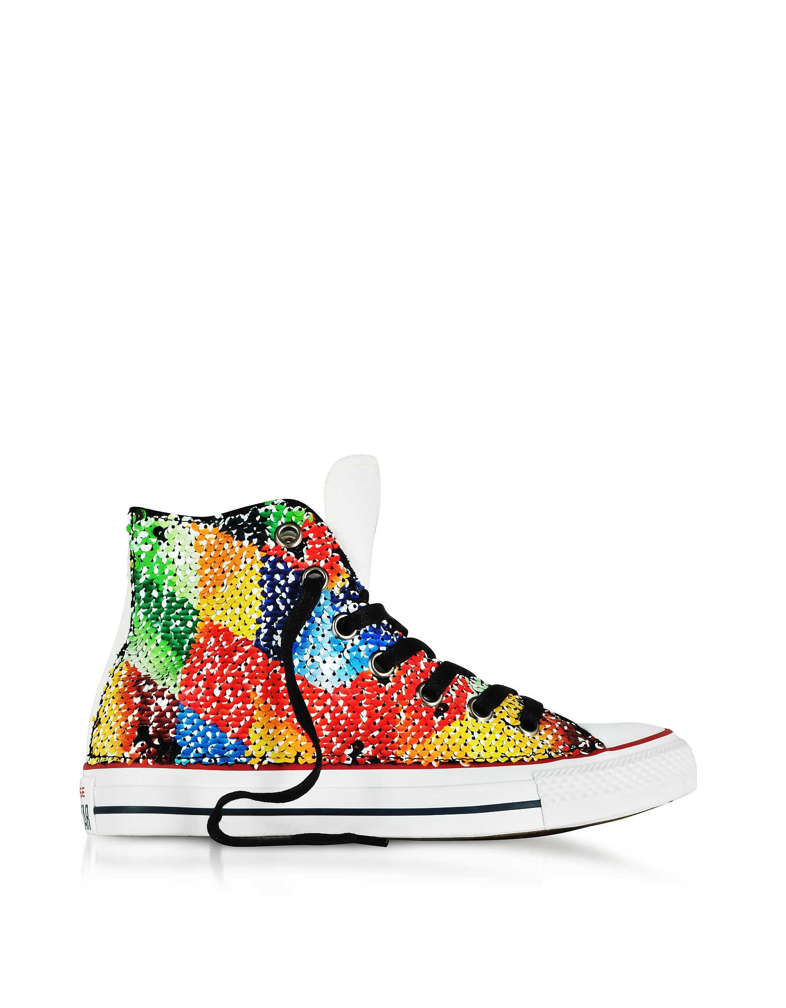 Converse Limited Edition Shoes, Chuck Taylor All Star High Top Sequins and Canvas Women's Sneakers