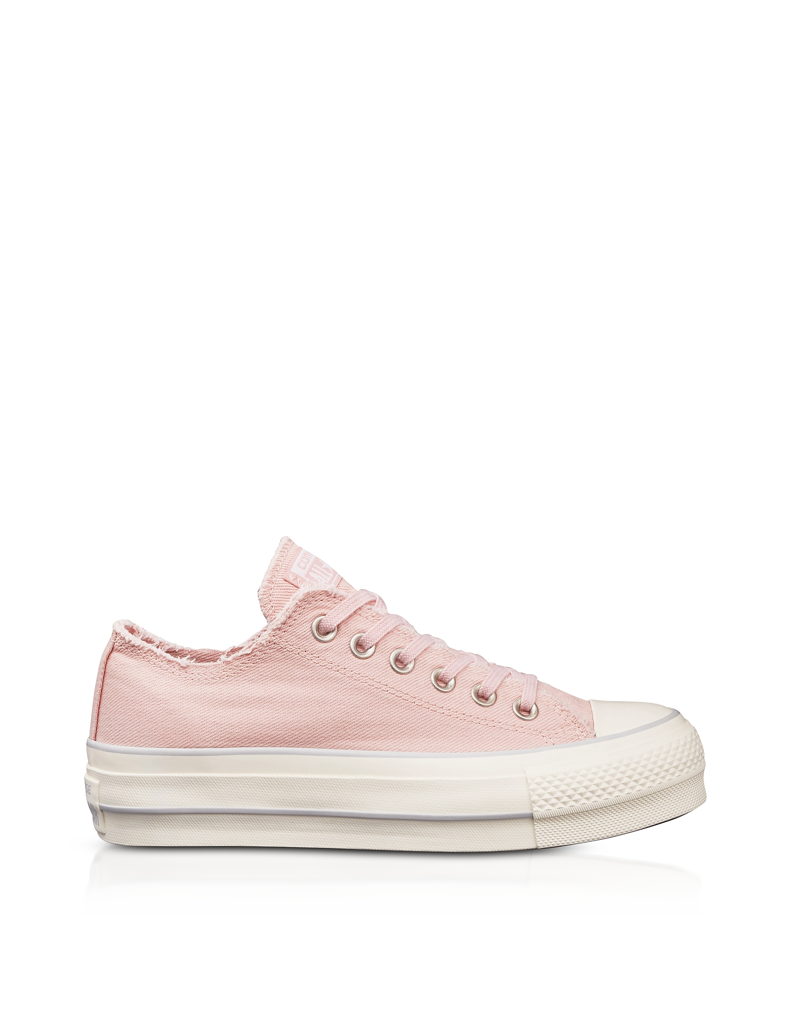Converse Limited Edition Shoes, Chuck Taylor All Star High Blossom Pink Textured Canvas Flatform Sne
