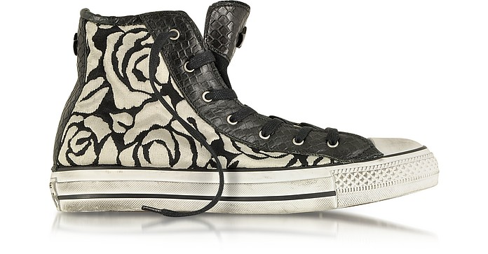All Star HI Sneaker aus Canvas mit weißen Rosen - Converse Limited Edition