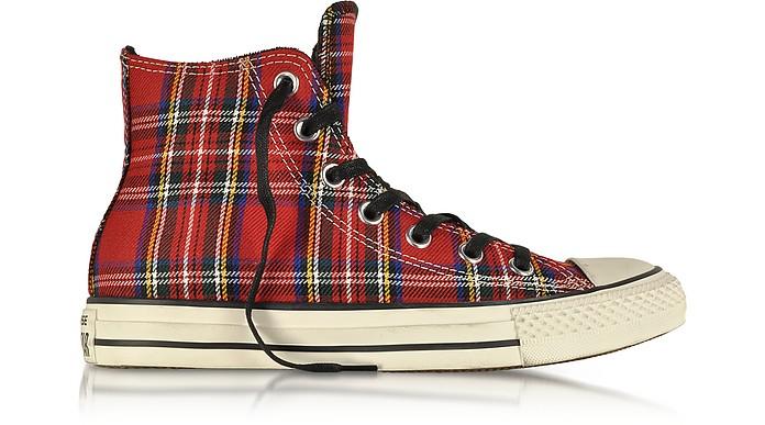All Star HI - Кеды из Красной Ткани в Шотландскую Клетку - Converse Limited Edition