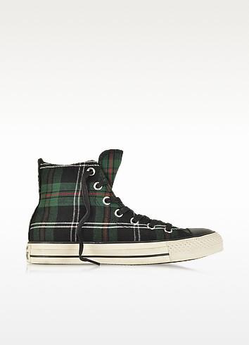 All Star HI Textile Green Tartan Sneaker - Converse Limited Edition