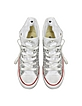 All Star Hi White Canvas w/Silver Glitter LTD Sneaker - Converse Limited Edition