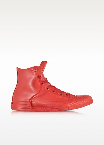 Red All Star Hi Rubber Sneaker - Converse Limited Edition