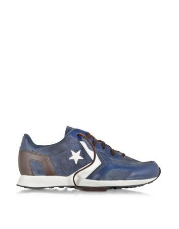 Lux-ID 307702 Auckland Racer Ox Twilight & Dark Blue Suede Sneaker