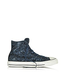 All Star High Navy Glitter Women's Sneaker - Converse Limited Edition