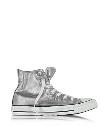 Converse Limited Edition All Star - Baskets Montantes Femme en Toile Métallisée Gris Chrome