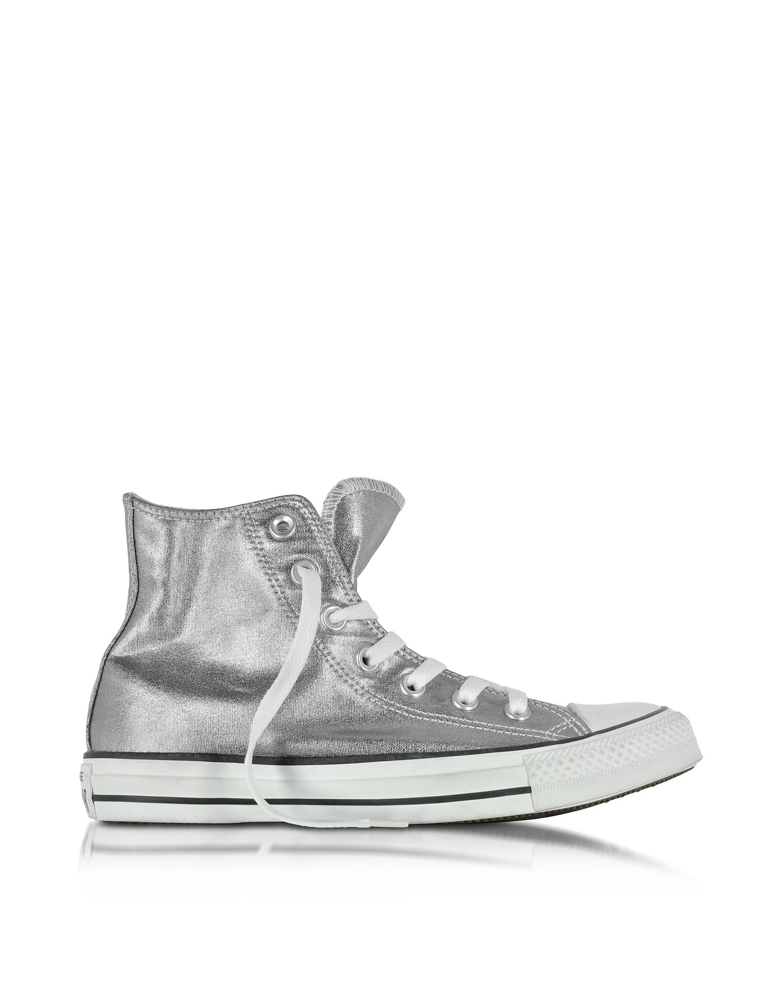 Converse Limited Edition All Star - Высокие Хромовые Женские Кеды из Ткани