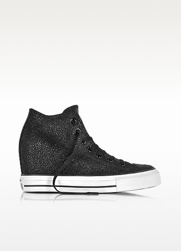 All Star Mid Lux Sting Ray Metallic Leather Wedge Sneakers - Converse Limited Edition