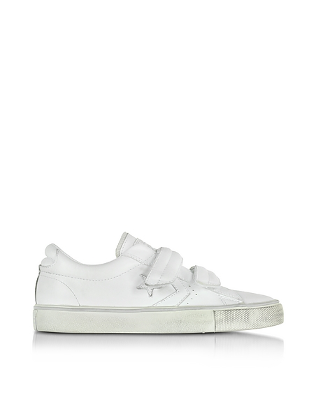 Foto Converse Limited Edition Pro Leather Sneaker Unisex in Pelle Bianco Distressed Scarpe