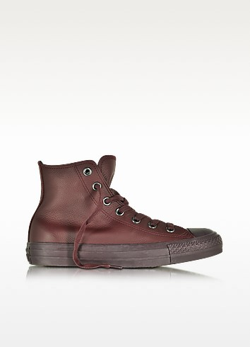 All Star High Dark Burgundy Leather Women's Sneaker - Converse Limited Edition