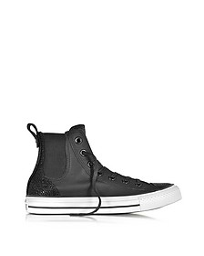 All Star High Chelsee Black Leather Women's Sneaker - Converse Limited Edition