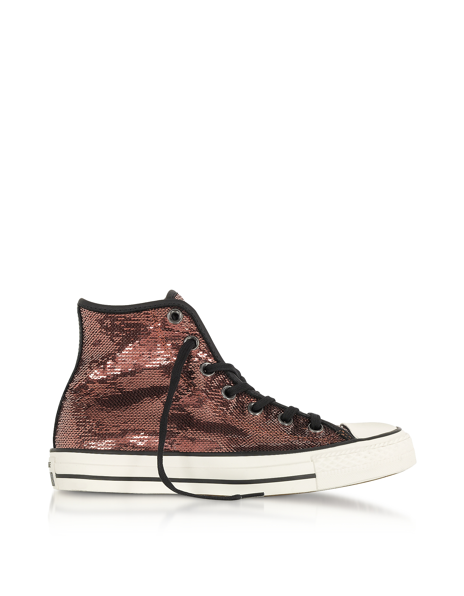 Converse Limited Edition Shoes, Chuck Taylor All Star High Distressed Ox Copper & Black Sequins Snea