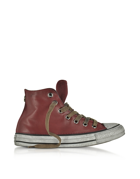 Converse Limited Edition Chuck Taylor All Star High Vintage LTD Unisex Sneaker aus Leder in rot