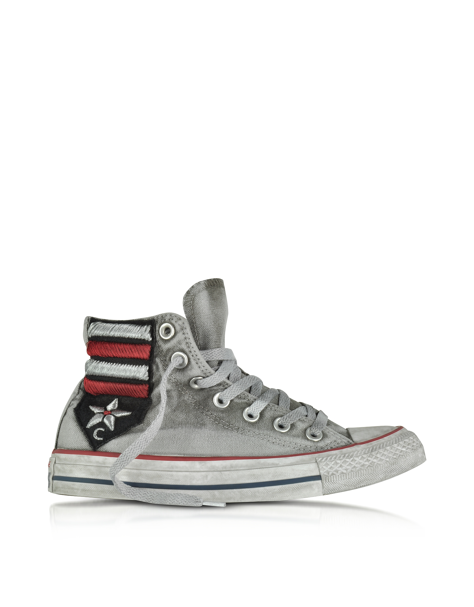 Converse Limited Edition Shoes, Chuck Taylor All Star High Vintage Flag Patchwork Canvas LTD Unisex