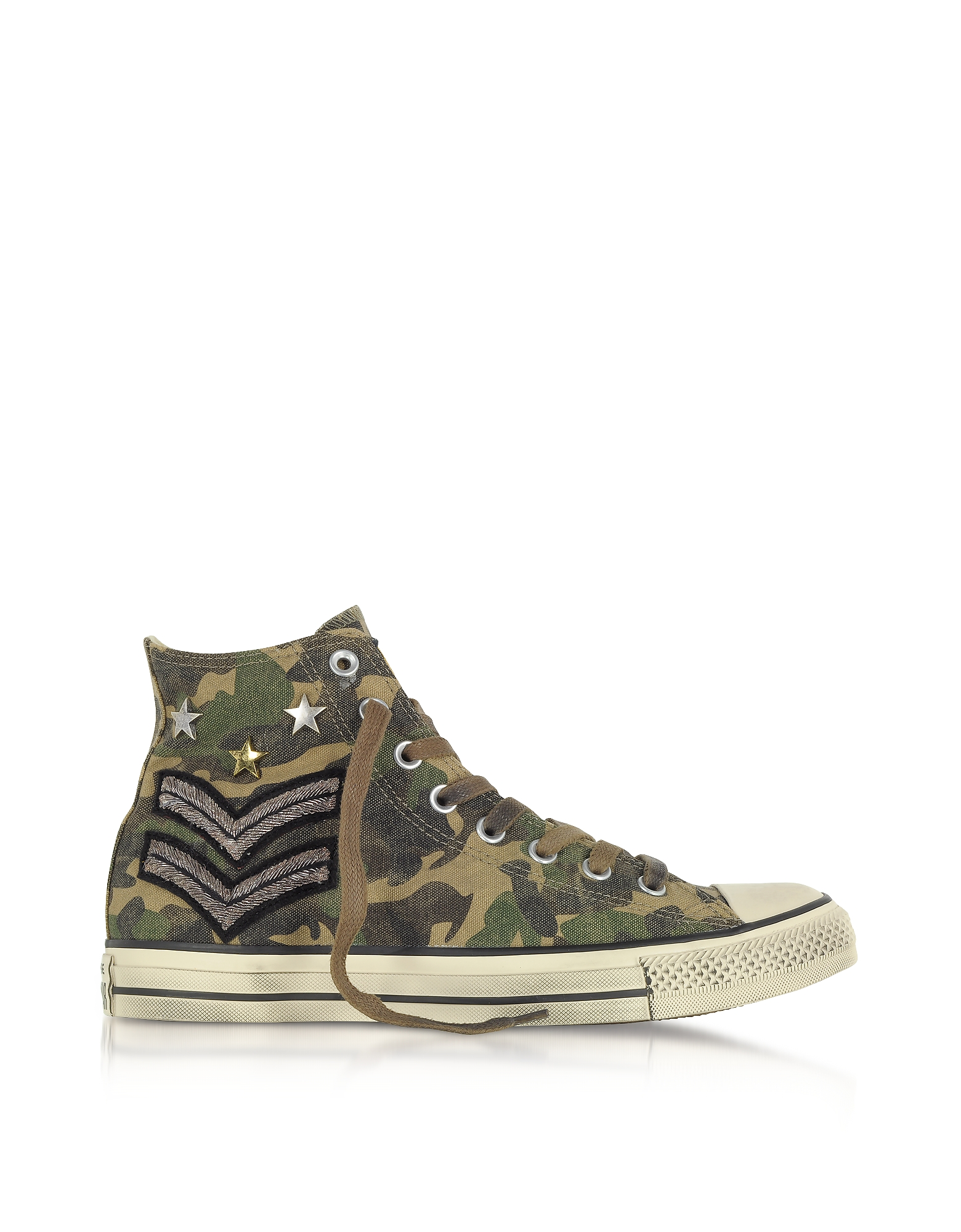 Converse Limited Edition Shoes, Chuck Taylor All Star High Military Patchwork Canvas LTD Unisex Snea