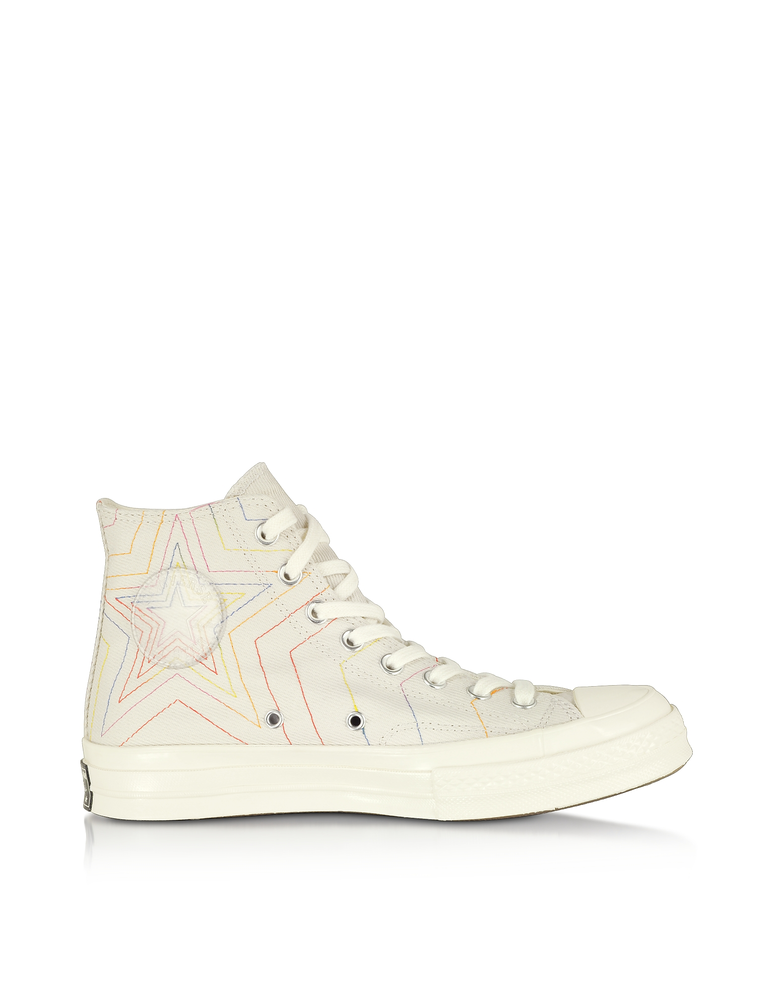 Converse Limited Edition Designer Shoes, Pale Putty Chuck 70 Exploding Star High Top