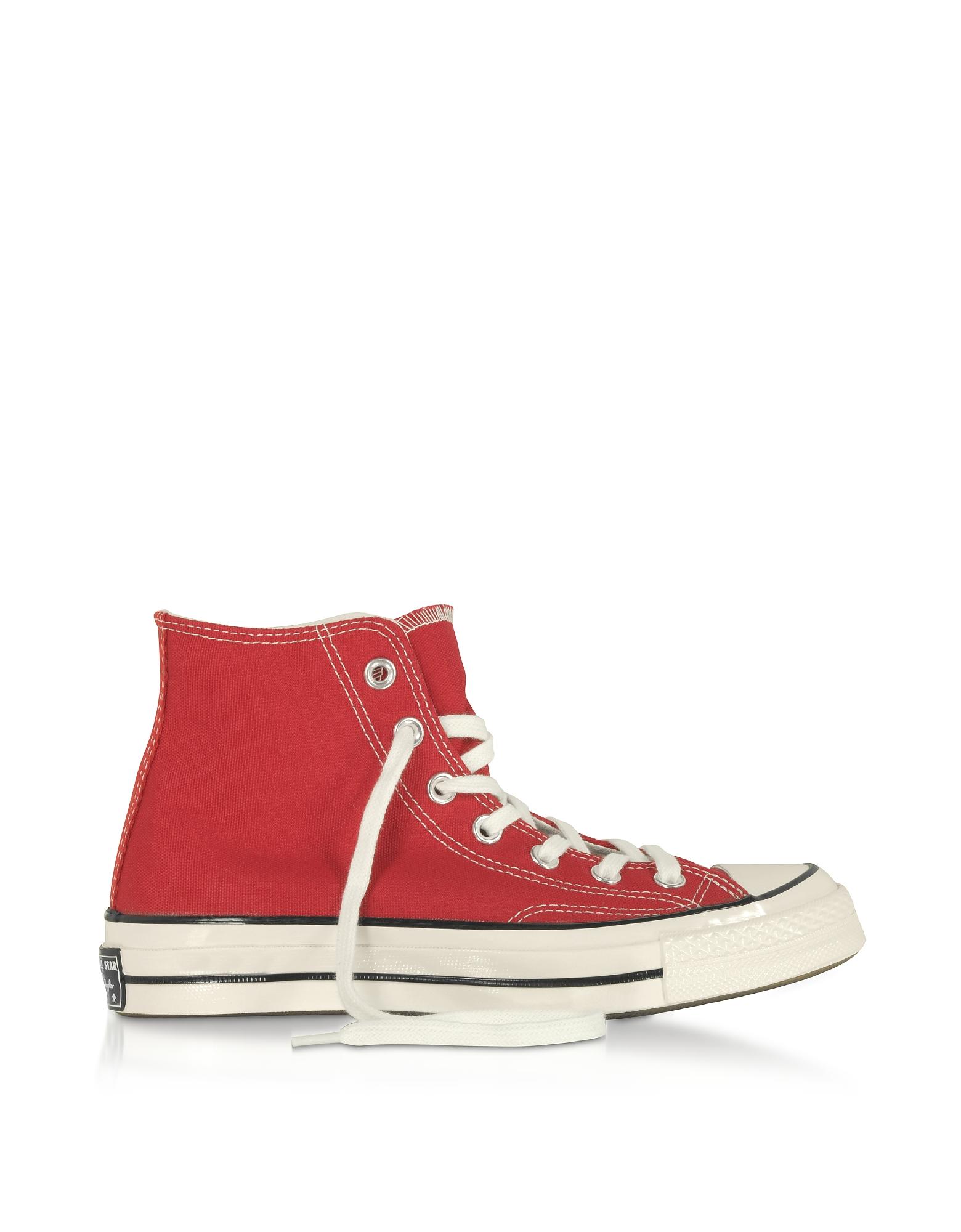 Chuck 70 - Винтажные Высокие Красные Кеды из Ткани Converse Limited Edition