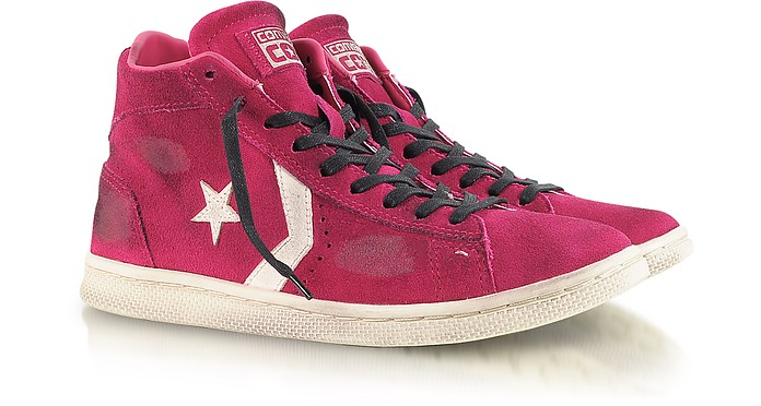 Fuchsia Pro Leather Mid Suede LTD Sneaker - Converse Limited Edition