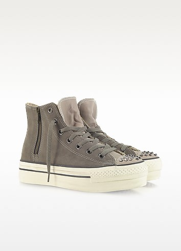 Ct Platform Zip & Stud Suede High Top Sneaker - Converse Limited Edition